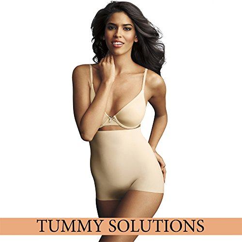 Maidenform - Sleek Smoothers Hiwaist Boyshort Everyday Control & Light Weight, Guaina da donna, beige(beige (paris nude pad)), 2XL