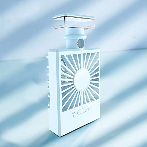 LVLONG Mini kleine Fan, Mädchen Schönheit Rehydrierung - zerstäubte Kühlung Luftbefeuchter - USB-Lade - Bunte Lichter - Parfüm Dispergierer - Klimaanlage Kühler 8x15cm - Feuchtigkeitsspendende Parfüm