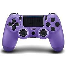 Mando inalámbrico Bluetooth PS4 inalámbrico Bluetooth de cuarta generación PS4 controlador de juego Bluetooth Joystick controlador Bluetooth (tamaño: púrpura)