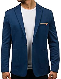 BOLF Herren Sakko Sweatjacke Slim Fit Blazer Anzug Casual Jacke Modisch Freizeit Modern Outwear New Top Anzugjacke Casual Modisch Slim Fit Mix