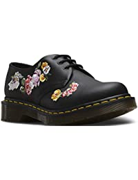 b5067cb59e Womens Dr Martens 1461 II Vonda Leather Floral Closed Toe Flat Punk Shoes