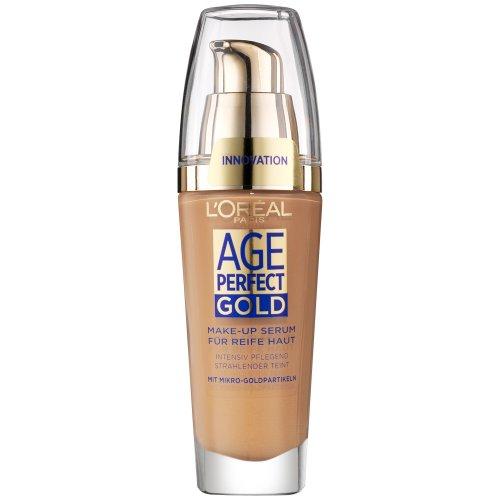 L'Oréal Paris Foundation Age Perfect Gold, 370 Cappuccino - deckendes Make Up mit Lifting Effekt für reife Haut, feuchtigkeitsspendend & pflegend, 1er Pack (1 x 25 ml)