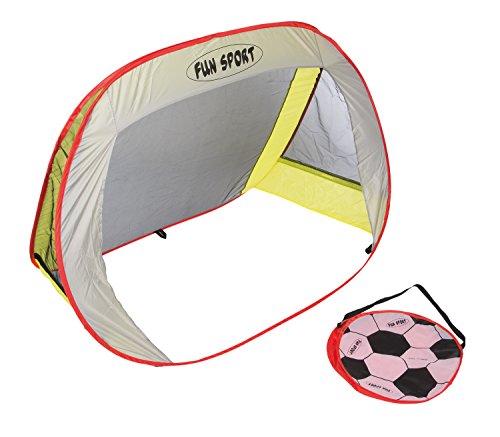 Idena 40463–Pop Up But de football avec sac de transport et erdnägeln, 130x 96x 80cm, multicolore