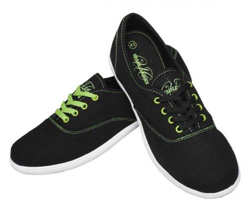 Basic Canvas Shoes Schwarz/Weiß