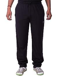 Lingo Men's Hosiery Track Pants Pyjama - Black
