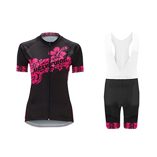 Uglyfrog 2018 Moda Abbigliamento Ciclismo Set Pantalone a Manica Corta Donna Camicia di Bicicletta Confortevole