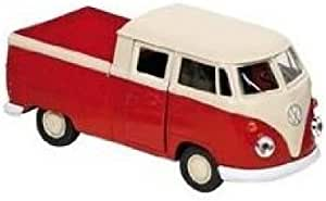 VW T1 Bus DoKa Pritsche rot Modellauto 1:24 Motormax