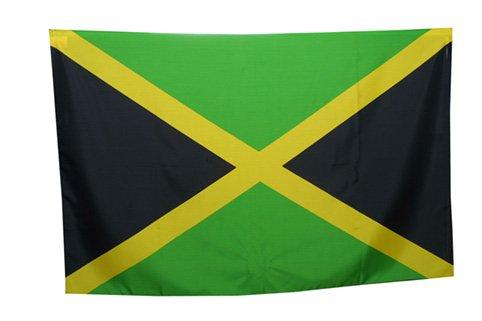 Drapeau Jamaïque jamaïcain 90x 140cm 100% Polyester avec lacets