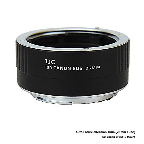 JJC 25mm Metal Tubo de Extensión TTL Enfoque Automático AF para Lentes Canon EF y EOS DSLR Cámaras