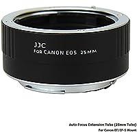 JJC Metall Autofokus-Zwischenringe (AF) mit TTL-Belichtung für Makrofotographie 25mm (Passen für Canon EOS EF/EF-S Mount Kameras)