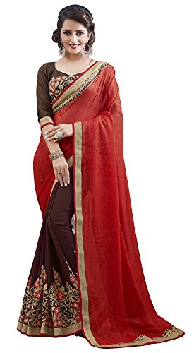 Sareeshop Georgette Saree With Blouse Piece (S111_Multi_Free Size)