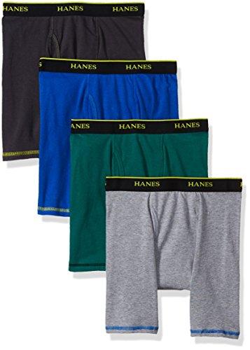 Hanes Herren Cool Comfort Breathable Mesh Boxer Brief Asst Color 4-Pack Slip, Sortiert, L (erPack 4) - Für Unterwäsche Herren Hanes