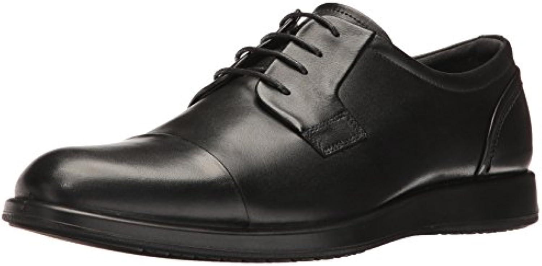 Ecco Men's Jared Cap Toe Tie Oxford  Black  47 EU/13 13.5 M US