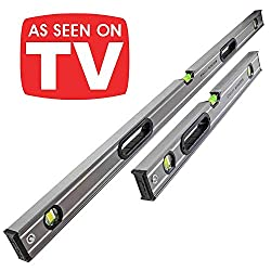 STANLEY XMS18LEVEL2 1200mm STA543648 and 600mm STA543624 Fatmax Box Beam Levels