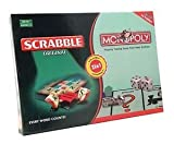 #10: 2 In 1 Board Games - Scrabble & Monopoly For 2 - 4 Players