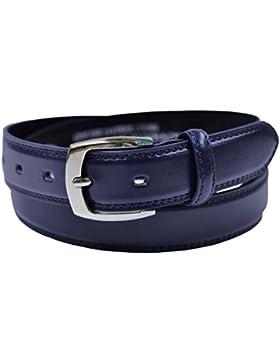 Ossi forrado en piel de 28 mm de cinturón para niños (tamaños de 4XS - Pequeño) en negro, marrón o beige
