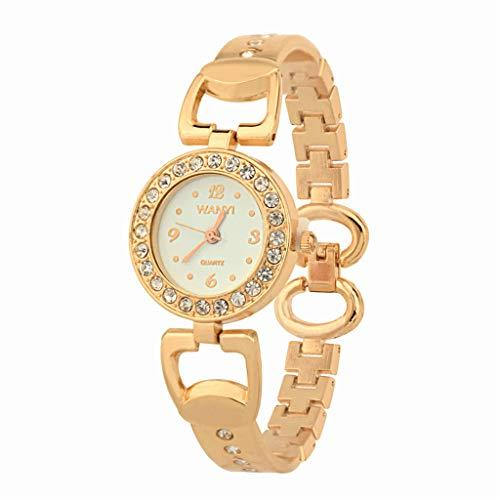 Knowin Damen Uhren Elegant Strass Armbanduhren mit Stahlarmband Zifferblatt Uhr Elektronische...