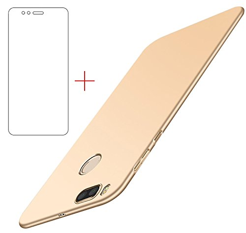 Funda Xiaomi Mi A1/ Xiaomi Mi 5X , UCMDA Xiaomi Mi A1 Carcasa con [Protector de Pantalla de Cristal Templado] [Ultra-Delgado] [Ligera] Anti-rasguños Estuche para Case Xiaomi Mi A1/ Xiaomi Mi 5X- Oro