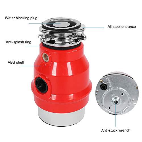 4000rmp 3/4HP 550W Eliminación de Basura de la Cocina Doméstica Eliminador de Desechos de Alimentos Trituradora de Desperdicios