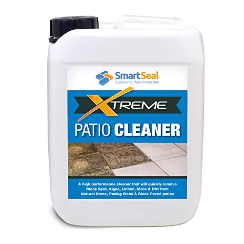 Smartseal Patio Clean Xtreme 5 Litre - Powerful, Highly Concentrated Patio Cleaner & Black Mould Spot Remover- for Natural Stone, Concrete, Paving Slabs, Indian Sandstone & Limestone