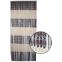 Hogar y Mas Vorhang für die tür in braun und beige - PVC - Auflage Bassic -Original - Design- Haus und mehr.