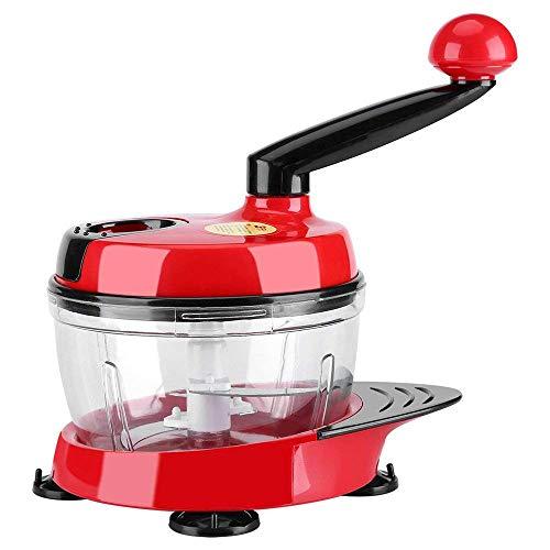 Manuelle Essen Chopper Hand Crank Fleischwolf Mixer Blender Cutter mit klaren Container zu hacken Fleisch Obst Gemüse Nüsse Kräuter Zwiebeln Knoblauch - Fleisch Hand Chopper