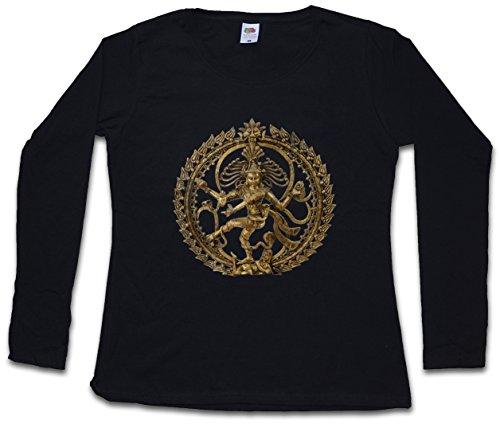 Shiva II Vintage Frauen Damen Langarm T-Shirt - Buddhismus Shivaismus Yoga Buddha Hinduism Ganesha India Indien Girl Größen XS – 2XL