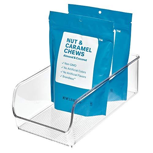 iDesign Caja transparente apilable, organizador de cocina mediano de plástico, caja organizadora...