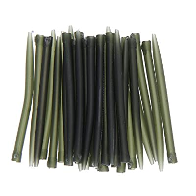 Demiawaking 30pcs Anti Tangle Sleeves Connect with Hook Carp Fishing Tackle from Demiawaking