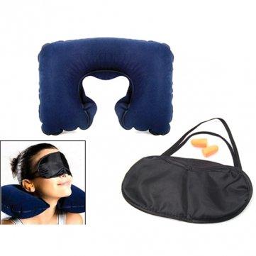 Alta Calidad Viajes Cuello Máscara almohada Cojín Ojo por Tapones para los oídos del sueño