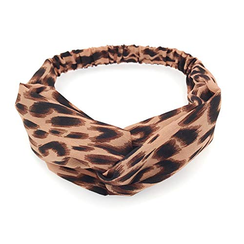 uster Stirnband Turban Faux Silk Haarband Animal Print Twist Knot(PK) ()