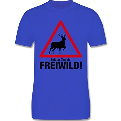 JGA Junggesellenabschied - Letzter Tag als Freiwild - Herren Premium T-Shirt Royalblau