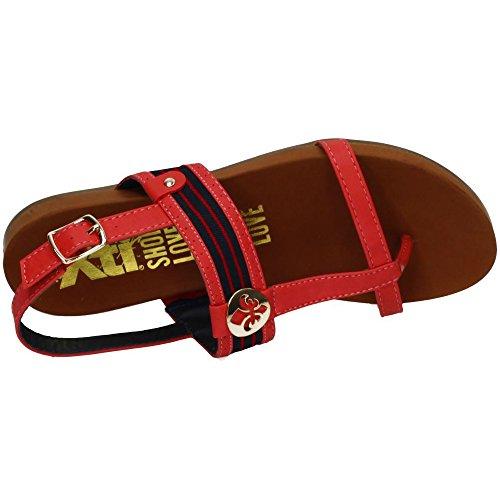 XTI , sandales femme Rouge