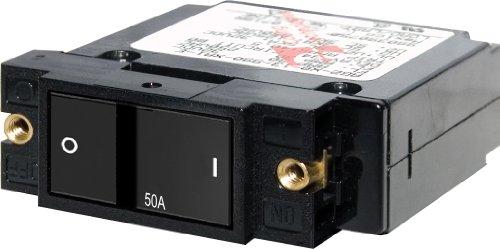 Blue Sea Systems A-Series Flat Rocker Single Pole 50A Circuit Breaker