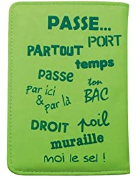Caroline Lisfranc - Porte-passeport voyage-VOYAGE POP Vert
