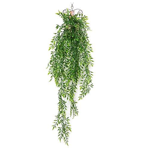 CTGVH Künstliche Pflanzen, I PCS Simulation Leaf Aufhängern für Home Garten Hochzeit Decor, Bambus Blätter, Plastik, grün, 75 cm