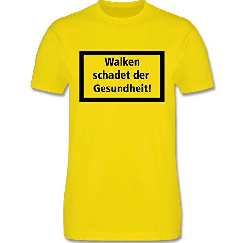 Laufsport - Walken schadet der Gesundheit - Herren Premium T-Shirt Lemon Gelb