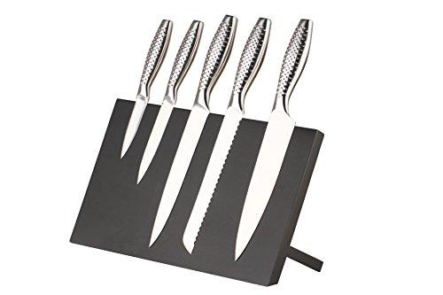 Magnetisches Messerbrett Magnet-Messerblock 36x21x14,5cm in zwei Farben passend für gängige Metallmesser, ohne Messer (Schwarz)