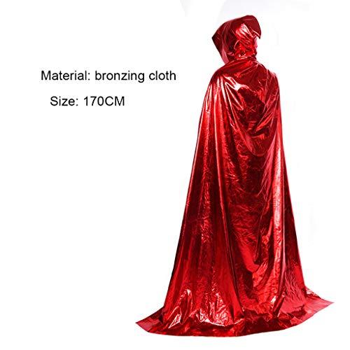 Robe Kostüm Red Wizard - Kostüm Für Erwachsene Cosplay Death Cloak Performance Kostüm Schwarz Wizard Robe Cloak Vampire Red-170CM