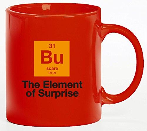 tüm Kaffeetasse Kaffeebecher mit Halloween - The Element Of Surprise Motiv, Größe: onesize,rot (Tasse Kaffee Halloween Kostüme)