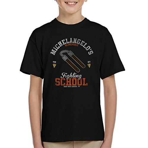 Cloud City 7 Michelangelo NUNCHUCK School Teenage Mutant Ninja Turtles Kid's T-Shirt