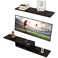 Anikaa Archie TV Entertainment Unit/Wall Set Top Box Stand Shelf (Wenge Big)