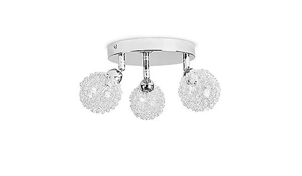 Plafoniere Minisun : Minisun lampada da soffitto moderna e rotonda con luci spot