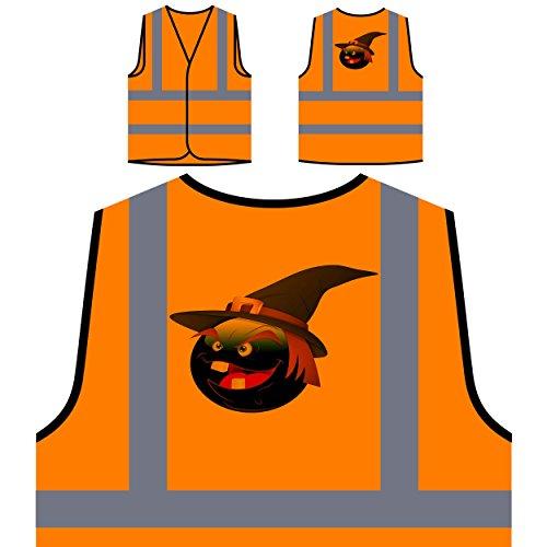 en Gesicht Neuheit lustige Kunst Personalisierte High Visibility Orange Sicherheitsjacke Weste a258vo ()