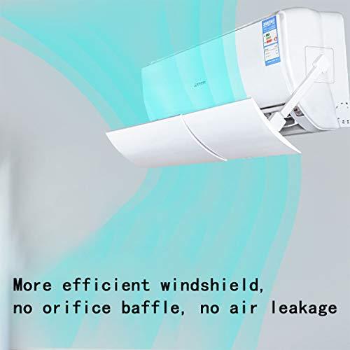 Klimaanlage Ablenkblech, 2019 Cwemimifa Faltbarer Klimaanlagen-Deflektor mit Luftkühlung und Anti-Blast-Schallwand für Daheim Büro Komponenten & Zubehör für Ventilatoren & Klimageräte (Weiß - 56X18CM)