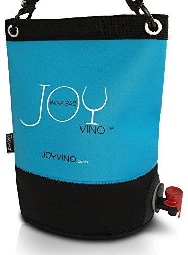 Weintasche und Getränkespender - Weintüte 3L für das Bag-In-Box - Einfach zu Handhabende Inner Tasche - Perfekt Egal ob Drinnen oder Draußen und Für Jedes Getränk: Wein, Sangria und Saft (Blau) -
