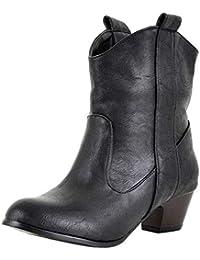 Botones Casual tacón alto para mujer,Sonnena Zapatos de mujer de tacón alto Botas de cuero para mujer Fondo grueso Botas hasta el tobillo