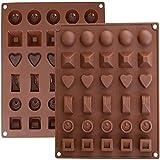 KBstore Stampo in Silicone per Cioccolato - Stampi in Silicone per Cioccolatini/Caramelle al caffè/Cubetti di Ghiaccio/Gelatina - Colore Casuale