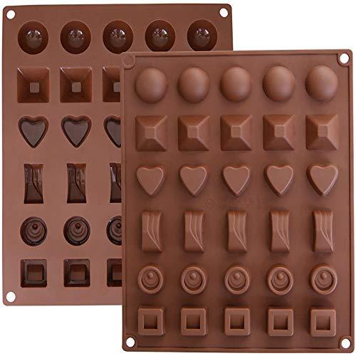 Moldes de Bombones de Silicona - Molde de Silicone para Chocolate/Caramelo de Café/Cubo de Hielo/Gelatina