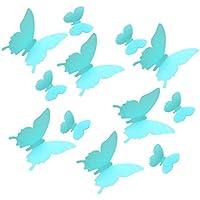 Pegatina de pared de mariposa - TOOGOO(R)12pcs Pegatina de pared de mariposa